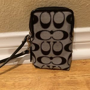 Coach small cell phone/wallet wristlet